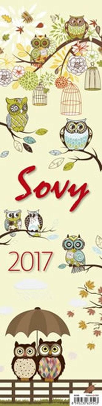 Kalendář nástěnný 2017 - Sovy