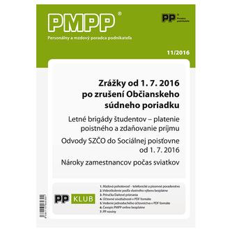 PMPP 11/2016 Zrážky od 1. 7. 2016 po zrušení Občianskeho súdneho poriadku