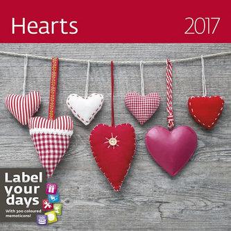 Kalendář nástěnný 2017 - Hearts