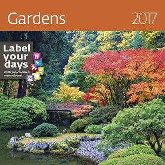 Kalendář nástěnný 2017 - Gardens 300x300cm