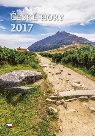 Kalendář nástěnný 2017 - České hory
