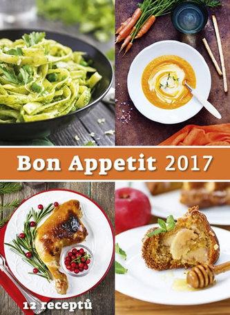 Kalendář nástěnný 2017 - Bon Appetit + 12 receptů