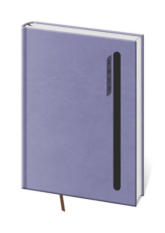 Diář 2017 - Violet/denní A5 fialová/černá