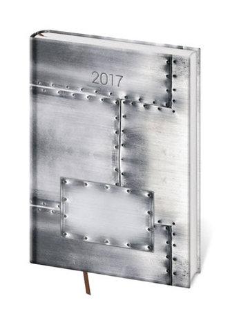 Diář 2017 - Vario/denní A5 Steel