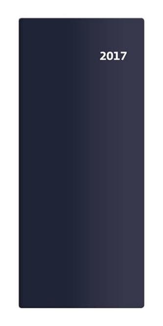 Diář 2017 - Torino/kapesní/měsíční/modrá