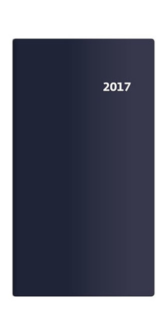 Diář 2017 - Torino/kapesní/čtrnáctidenní/modrá