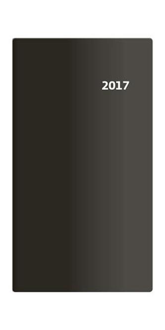 Diář 2017 - Torino/kapesní/čtrnáctidenní/černá