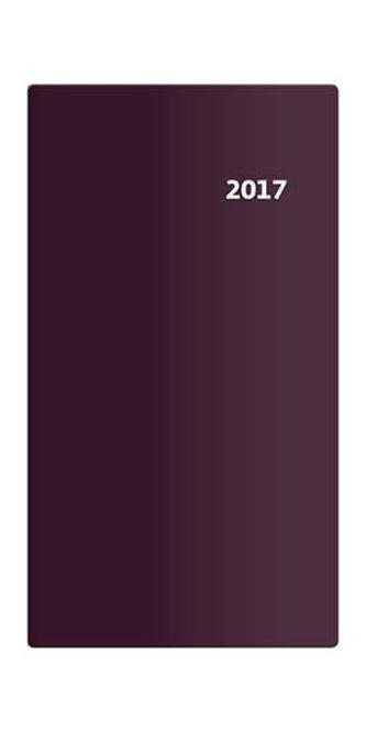Diář 2017 - Torino/kapesní/čtrnáctidenní/bordó