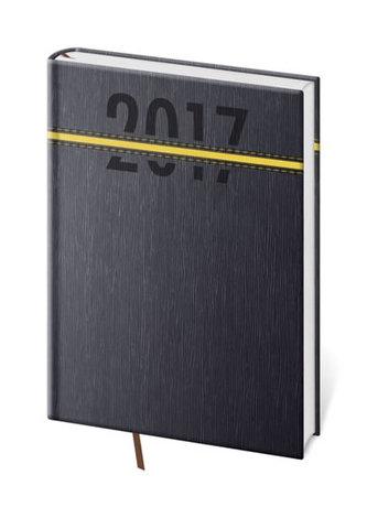 Diář 2017 - Strips/týdenní A5 žlutá