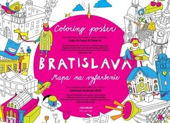 Bratislava Mapa na vyfarbenie