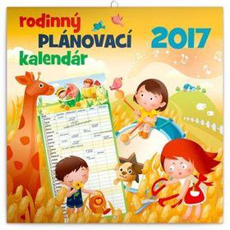 Rodinný plánovací - nástenný kalendár 2017