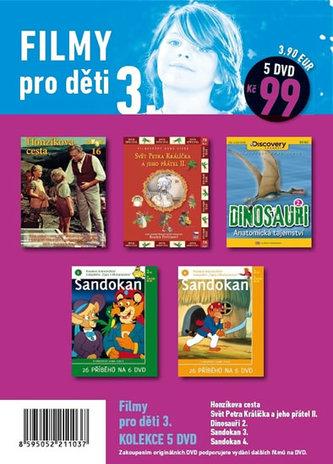 Filmy pro děti 3. - 5 DVD pošetka