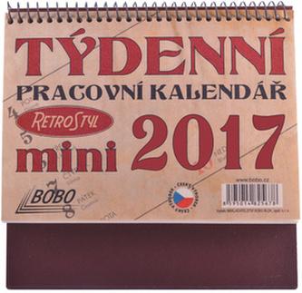 Pracovní kalendář mini 2017 - stolní kalendář