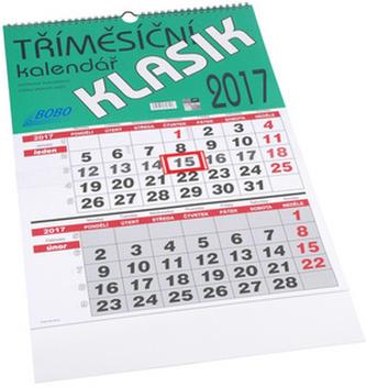 Tříměsíční Klasik 2017 - nástěnný kalendář