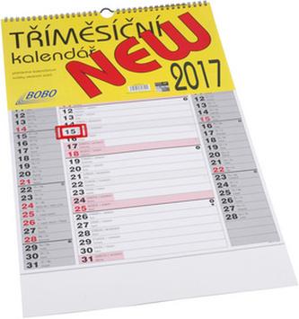 Tříměsíční NEW 2017 - nástěnný kalendář