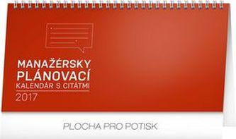 Manažérsky kalendár s citátmi - stolní kalendár 2017