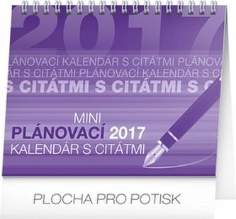 Plánovací kalendár s citátmi - stolní kalendár 2017