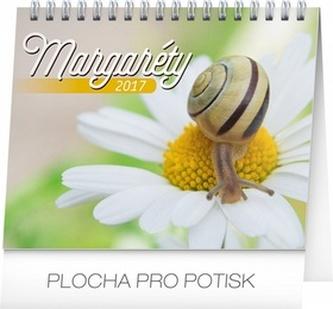 Margaréty s citátmi - stolní kalendár 2017