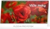 Vlčie maky riadkový - stolní kalendár 2017