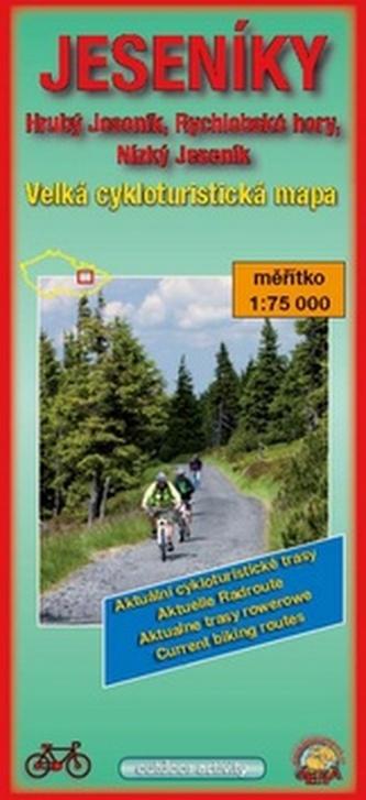 Jeseníky Velká cykloturistická mapa