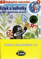 Krtkova dobrodružství 1-3 - 3 DVD (pošetka)