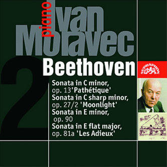 Klavírní sonáty Patetická, Měsíční svit, Les Adieux, 32 variací - CD - Beethoven Ludwig van