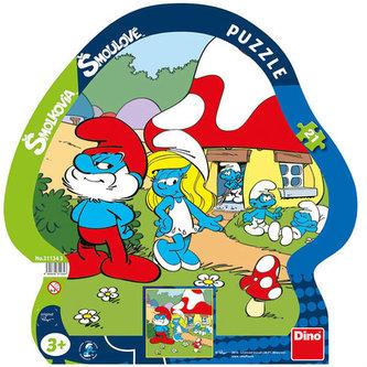 Šmoulové Volný den - puzzle 21 dílků deskové - Peyo