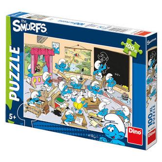 Šmoulové ve škole - puzzle 100 XL dílků