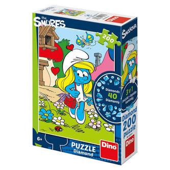 Šmoulinka Diamond - puzzle 200 dílků