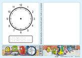 Stíratelná tabulka na procvičování psaní, hodin a na kreslení