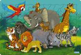 Logické puzzle - Zvieratká džungľa