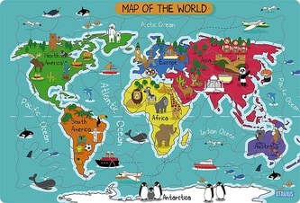 Map of the World - Arctic Ocean