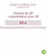 Sada kartiček M4 - sčítání do 20 s přechodem přes 10