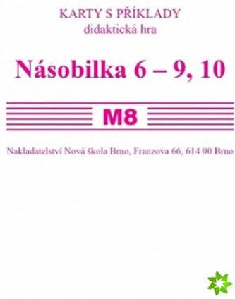 Sada kartiček M8 - násobilka 6 - 9, 10