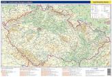 Česko - fyzická a administrativní mapa