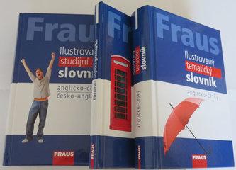FRAUS komplet 3 v 1 Anglický jazyk (Ilustrovaný tematický slovník, Ilustrovaný studijní slovník, Přehled gramatiky)