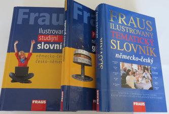 FRAUS komplet 3 v 1 Německý jazyk (Ilustrovaný tematický slovník, Ilustrovaný studijní slovník, Přehled gramatiky) - neuveden