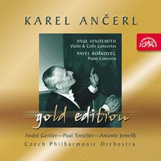 Gold Edition 30 Hindemith: Koncert pro housle a orch.,Koncert pro violoncello a orch.;Bořkovec : Koncert pro klavír a orch. - CD