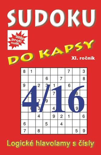 Sudoku do kapsy 4/2016 (červená)
