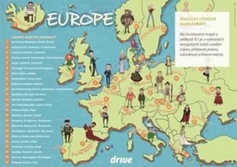 Drive Anglická výuková mapa Evropy