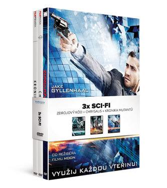3x DVD Sci-fi/ Zdrojový kód + Chrysalis + Kronika mutantů