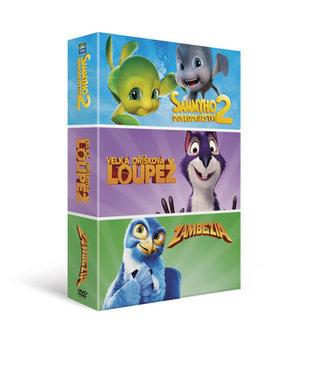 Animáky - kolekce 3DVD/Velká oříšková loupež, Sammyho dobrodružství 2, Zambezia