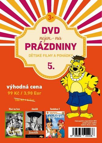 DVD nejen na Prázdniny 5. - Dětské filmy a pohádky - 3 DVD - neuveden