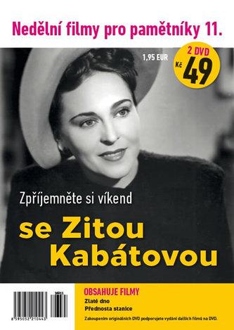 Nedělní filmy pro pamětníky 11 - Zita Kabátová - 2 DVD pošetka