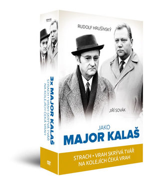 Kolekce 3x Major Kalaš (3 DVD): Strach, Vrah skrývá tvář, Na kolejích čeká vrah - neuveden