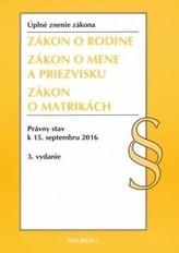 Zákon o rodine, Úzz, 3. vyd., 2016