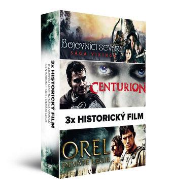 3x Historický film (3 DVD): Bojovníci severu: Sága Vikingů, Centurion, Orel Deváté legie - neuveden