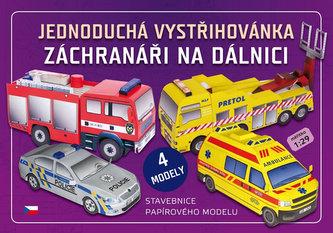 Záchranáři na dálnici - Jednoduchá vystřihovánka