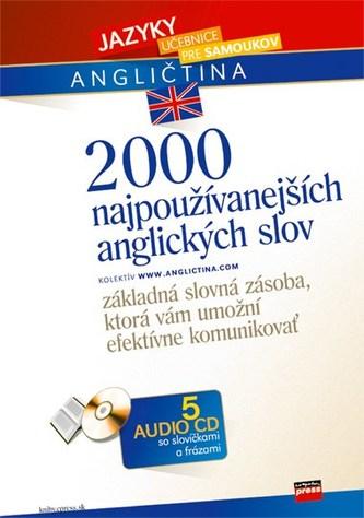 2000 najpoužívanejších anglických slov + 5 AUDIO CD