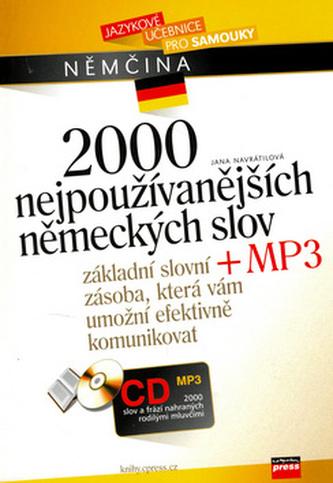 2000 nejpoužívanějších německých slov + CD MP3